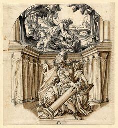 Virtudes Cardinales: Fortaleza. Jos Murer. 1545-1580. Tinta sobre papel. Museo Británico.  Jorge García-Jurado.