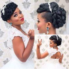 16 Stunning Hairstyles for Nigerian Brides More natural wedding hairstyles Natural Hair Wedding, Natural Hair Updo, Hair Comb Wedding, Wedding Updo, Natural Hair Styles, Wedding Reception, Formal Wedding, Wedding Rings, Wedding Ideas