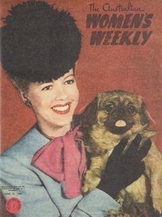 Her hat or the gorgeous little pekingese she's holding… though they're both pretty fabulous! Animals And Pets, Cute Animals, Tiny Monkey, Pekinese, Fu Dog, Pekingese Dogs, Lady And The Tramp, Cute Animal Pictures, Vintage Magazines