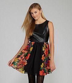 GB FauxLeather PhotoPrint Dress #Dillards