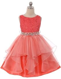 Darcy Coral Party Dress for Girls Girls Party Dress, Girls Dresses, Formal Dresses, Wedding Dresses, Coral Flower Girl Dresses, Kids Bridesmaid Dress, Coral Party, Cute Kids, Wedding Ideas