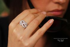 Infinity Knot Diamond Ring  The original Delux by SillyShiny