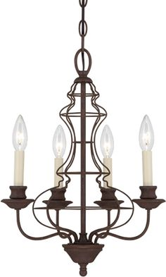 "Quoizel LLA5004RA Laila Birdcage Chandelier Height: 18.5"" x Diameter: 15""  120VAC 4 x B10 Candelabra base 60 Watt  4 Arms  CUL Rated  Style: Traditional  Finish: Rustic Antique  Traditional Chandeliers - Brand Lighting Discount Lighting - Call Brand Lighting Sales 800-585-1285 to ask for your best price!"