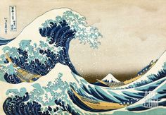 The Great Wave at Kanagawa (from 36 views of Mount Fuji), c.1829, by Katsushika Hokusai