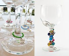 I love this idea for making plain wine glasses unique! I'm just not sure how you would wash them - the wire would have to be rust resistant!