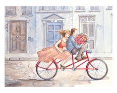 Gather Ye Rosebuds: Fine Art Print - Home Decor - Roses - Bicycle - London - 8 x 10