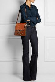 ce26ca0613 Faye medium suede and leather shoulder bag Faye Bag, Chloe Bag, Material  Girls,