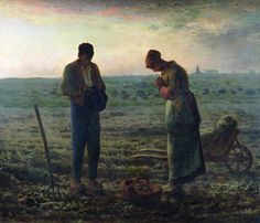 The Angelus Painting Jean ~ Francois Millet