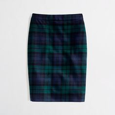 Call it nostalgia for my prep school uniform, but I am all about the Blackwatch plaid this fall. J.Crew Factory skirt.