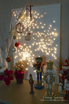 Living Savvy: How To... Twinkle Light Art and Advent Cal Update