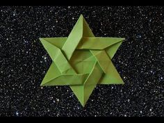 Best way to make an Origami Star of David (HD) - YouTube