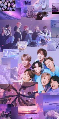 BTS OT7 collage wallpaper