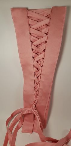 Pink Corset Kit In Satin Tie Up Dress Alterations Bridal