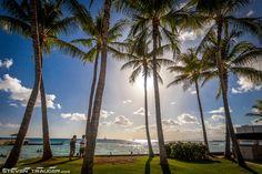 Waikiki Beach during the day