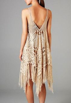 Tunic sexy crochet dress summer top beach wedding by CopperLife