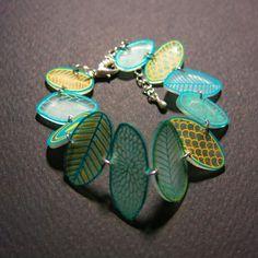 bijous fait main  bracelets galet turquoise or L'atelier Des Poissons Rouges