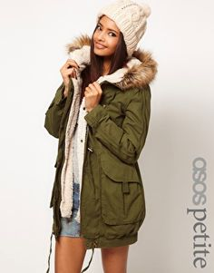 Enlarge ASOS PETITE Fur Hooded Detachable Lined Parka  omfg i want this so bad #fashion