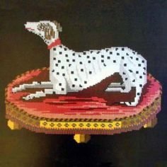 "Elizabeth Bradely Needlepoint Tapestry ""Spotted Dog"" Finished stitching for wedding gift"
