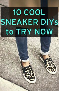 10 cool DIY sneaker upgrades to try for spring and summer #diy #shoes #sneakers