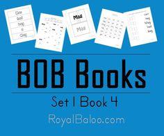 BOB Books Set 1 Book 4 Printables -Royal Baloo