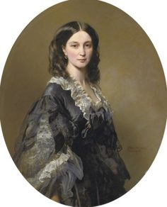 Franz-Xavier Winterhalter (German, 1805-1873) Portrait of Princess Bariatinsky, three-quarter length