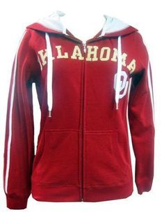 University of Oklahoma Sooners Ladies Zip-Up Hooded Sweatshirt