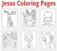 Click here for coloring pages that feature Jesus.
