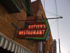 Rotier's Restaurant, 2413 Elliston Place, Nashville, Tennessee, 37203.