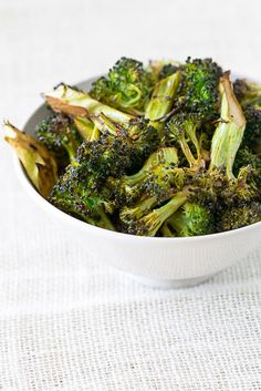 garlic roasted broccoli with balsamic vinaigrette
