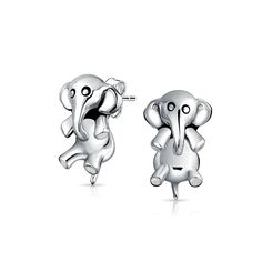 Bling Jewelry Lucky Elephant Ear Jackets Animal Stud Earrings Sterling Silver >>> Be sure to check out this awesome product.