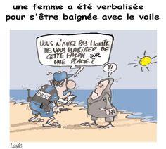 Lounis (2016-08-25) France: Une femme a été verbalisée pour s'être baignée avec le voile