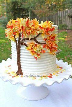 Fall Wedding Cake...beautiful!