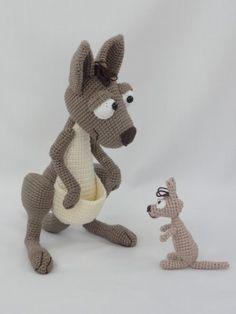 Kanga Roo and Baby Roo – Amigurumi Crochet Pattern |