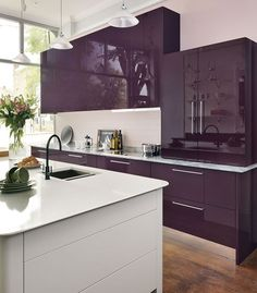 John Lewis of Hungerford 'Cool' kitchen - modern gloss kitchens with clean comtemporary style