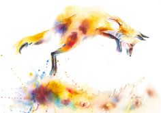 Mystical Woods Studio The Art of Catherine Luce Mystic, Watercolour, Illustration Art, Fox, Fine Art, Studio, Artwork, Animals, Pen And Wash