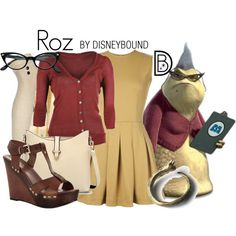 Roz from Monsters Inc. by leslieakay on Polyvore featuring TheP., G2 Chic, Carvela Kurt Geiger and Worthington