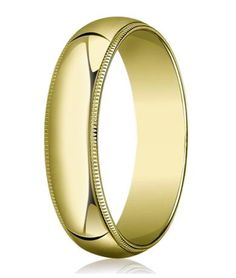 The incomparable look of 10K yellow gold is beautifully highlighted in this men's gold wedding band. This gleaming designer men's gold wedding ring has a classic slightly domed profile accompanied by milgrain beading at its edges. A 6mm traditional fit band makes for a ring that is at both handsome and affordable. Web Page: http://www.justmensrings.com/Designer-6-mm-Traditional-Fit-Milgrain-10K-Yellow-Gold-Wedding-Band--JB1104_p_123.html