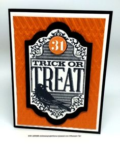 Handmade Halloween card using Witches Night Stamp Set from Stampin' Up!