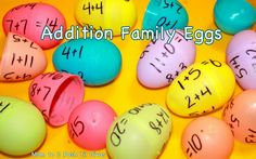Addition Fact Family Review with plastic eggs + other ideas for using plastic eggs to play and learn. #Momto2PoshLilDivas