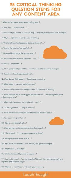 28 Question Stems That Boost Critical Thinking in Any Content Area [infographic]