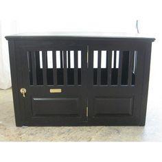 "$+  Handmade Furniture-Style Dog Crate Size: Large (30"" H x 28"" W x 45"" D), Finish: Espresso, Door: Left Side Door"