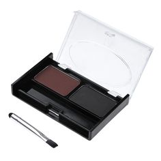 Eyebrow Enhancer Cosmetic Pro Eye Brow Powder 2 Natural Colors Long Lasting Eyebrow Powder Palette With Makeup Brush Beauty Set