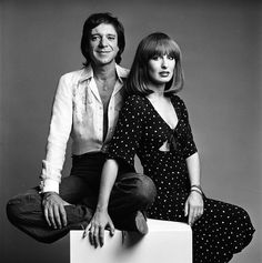 Ramses Shaffy and Liesbeth List - Dutch singers. Photo by Paul Huf, 1975