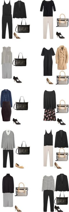 Basic Work Capsule Outfits 31-40 #capsulewardrobe #workwardrobe #workwear…