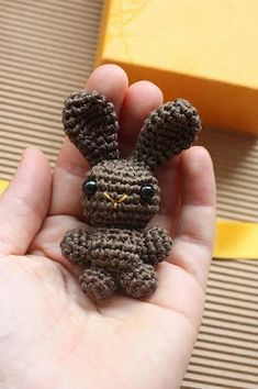 Amigurumi Chocolate Bunny Brooch :)