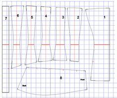 1910 corset pattern. ready to print.