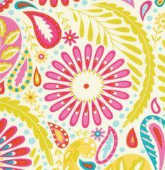 Dena Designs Fabric /  Sanjay in Pink /  Kumari Garden Collection - 1 Yard Cotton Quilt Fabric. $10.50, via Etsy.