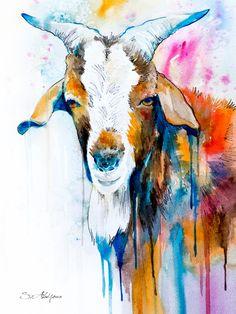 Goat 2 Art Print by Slaveika Aladjova