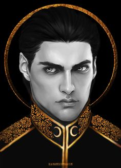 "xla-hainex: "" and one more of the giveaway prizes, Darkling from Grisha trilogy for @betweenthepage. i'm sorry it took so long, but i did it finally and i hope you like it!: From Leigh Bardugo's blog """