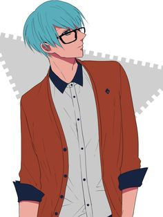 Tags: Anime, Fanart, Pixiv, Fanart From Pixiv, Kuroko no Basket, Glasses
